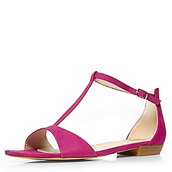 Evans - Pink t-bar square toe sandal