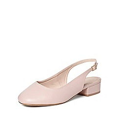Evans - Extra wide fit pink square toe sling back