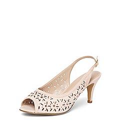 Evans - Extra wide fit pink slingback heels