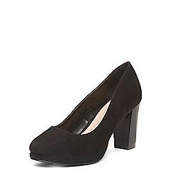 Evans - Black platform court heels