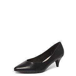 Evans - Black kitten heel court shoes