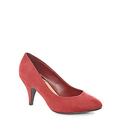 Evans - Extra wide fit berry suedette courts