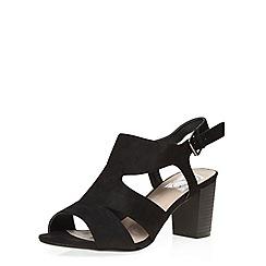 Evans - Black strap block heel