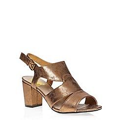 Evans - Bronze strap block heel