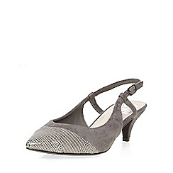 Evans - Grey slingback kitten heel