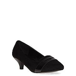 Evans - Extra wide fit black suedette mid heel slipper