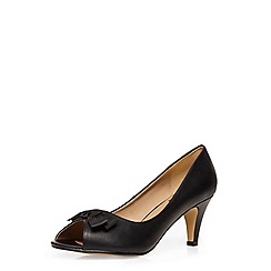 Evans - Extra wide fit black peeptoe heel