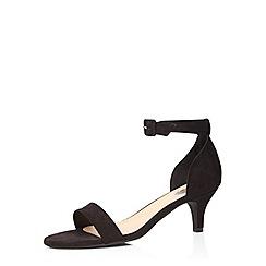 Evans - Extra wide fit black suedette heeled sandal