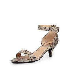Evans - Extra wide fit snake print heeled sandal