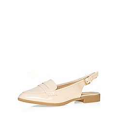 Evans - Extra wide fit nude patent slingback loafer