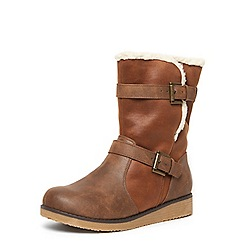 Evans - Brown calf boots