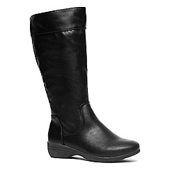 Evans - Extra wide fit black casual comfort long boot