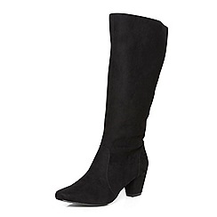 Evans - Evans extra wide black long heeled boots