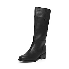 Evans - Extra wide fit black square toe long boot