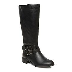 Evans - Black riding boots