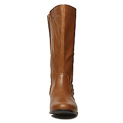 Evans - Brown elastic long boot
