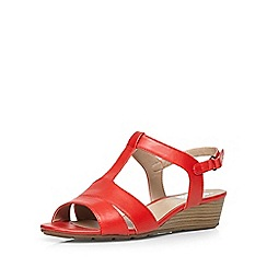 Evans - Extra wide fit red comfort wedge