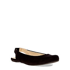 Evans - Extra wide fit black square toe slingback