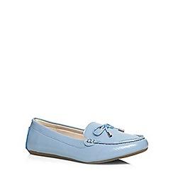 Evans - Blue patent driving shoe