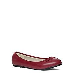 Evans - Extra wide fit pink ballerina pump