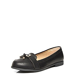 Evans - Black metal trim loafer