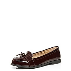 Evans - Berry patent metal trim loafers