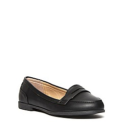 Evans - Extra wide fit black  loafer