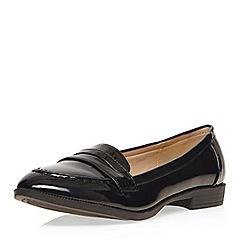 Evans - Black patent loafer