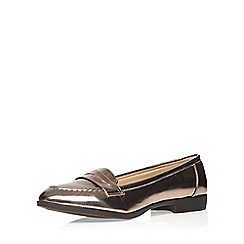 Evans - Silver patent loafer