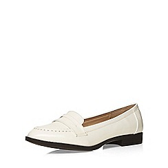 Evans - White patent loafer
