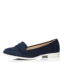 Evans - Navy sporty loafer