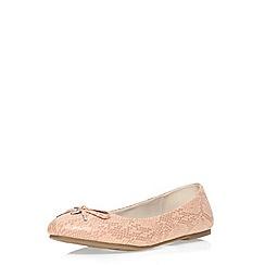 Evans - Extra wide fit pink snake print ballerina pump
