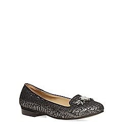 Evans - Silver jewel jacquard slipper pumps