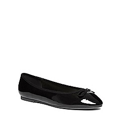 Evans - Extra wide fit black point ballet pumps
