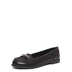 Evans - Black metal trim loafers