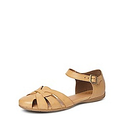 Evans - Extra wide fit brown two part comfort sandals