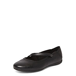 Evans - Extra wide fit black asymmetric comfort pumps