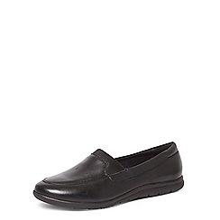 Evans - Black leather comfort loafers