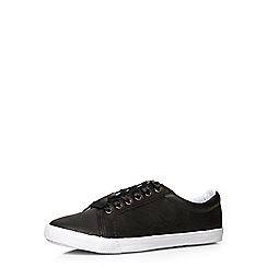 Evans - Black leather look trainers
