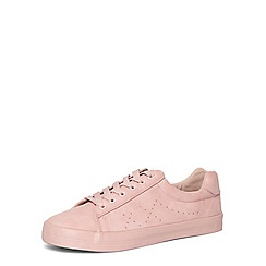 Evans - Pink lace up trainers