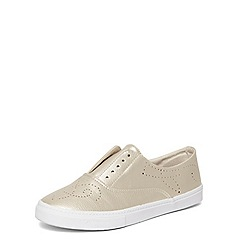 Evans - Extra wide fit gold boruge laceless trainers