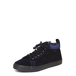 Evans - Extra wide fit navy star high top trainers