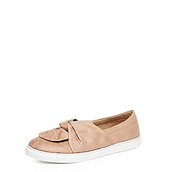 Evans - Extra wide fit natural knot bow skate shoes