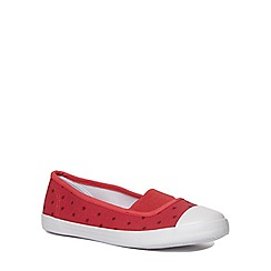 Evans - Extra wide fit red star print casual pump
