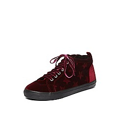 Evans - Red star high top trainers