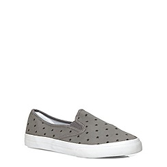 Evans - Extra wide fit grey star print skater shoe