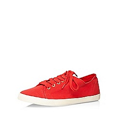 Evans - Extra wide fit red lace up trainers