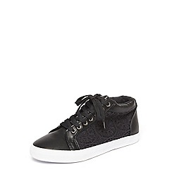 Evans - Black lace high top trainers