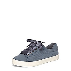 Evans - Blue ribbon lace trainers