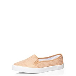Evans - Extra wide fit pink skater shoe